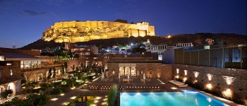 Raas, with view of Mehrangarh Fort, Jodhpur